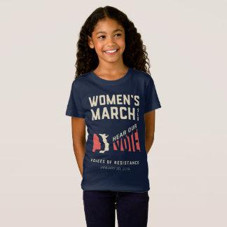 Camiseta Ouça nosso voto - evento do março SLO das mulheres