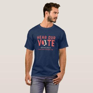 Camiseta Ouça nosso voto - o março SLO das mulheres (os