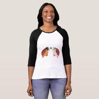 Camiseta Ouriços bonitos para o dia dos namorados