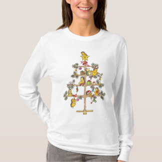 Camiseta Ouriços da árvore de Natal
