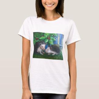 Camiseta Ouriços na pintura a óleo do amor