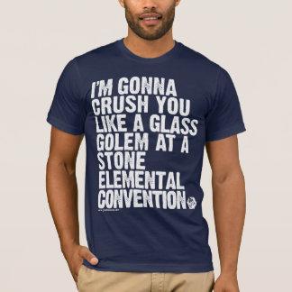 Camiseta OURO: A ameaça de vidro do Golem