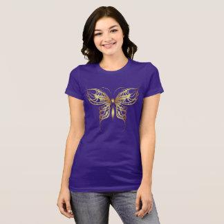 Camiseta Ouro da borboleta