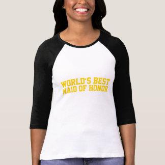 Camiseta Ouro da madrinha de casamento do mundo o melhor