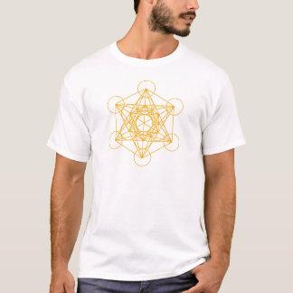 Camiseta Ouro do cubo de Metatron