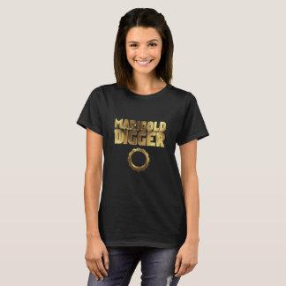 Camiseta Ouro do preto do escavador do cravo-de-defunto