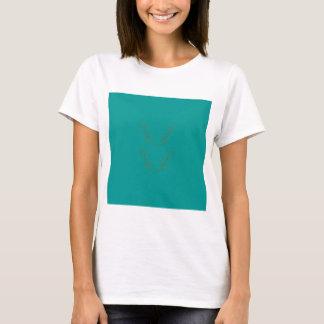 Camiseta Ouro dos elementos do design ciano