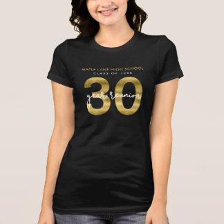 Camiseta Ouro elegante do falso reunião de escola de 30