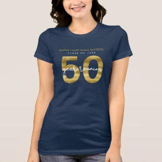 Camiseta Ouro elegante do falso reunião de escola de 50