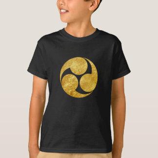 Camiseta Ouro japonês do falso do clã de Kobayakawa