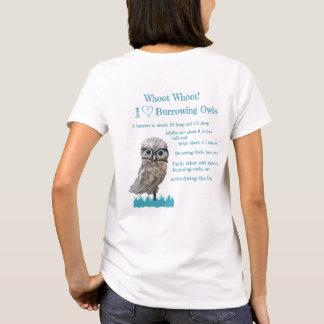 Camiseta Ouro lunático e coruja Burrowing de prata