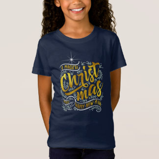 Camiseta Ouro mágico ID441 da tipografia do Natal
