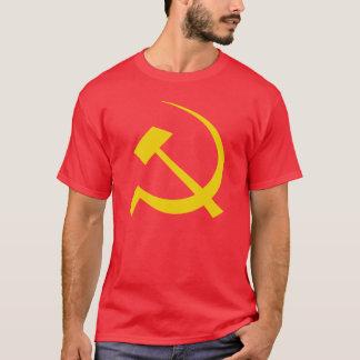 Camiseta Ouro no t-shirt soviético vermelho do martelo e da