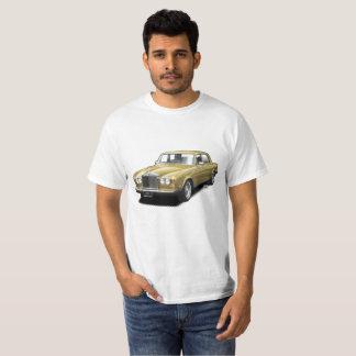 Camiseta Ouro que rola o t-shirt clássico real do carro