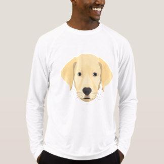 Camiseta Ouro Retriver do filhote de cachorro da ilustração