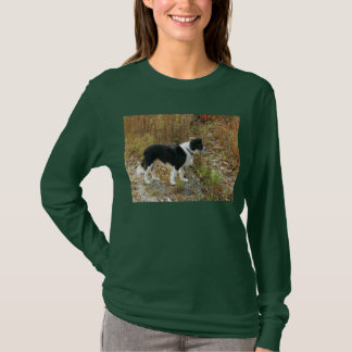 Camiseta Outono de border collie