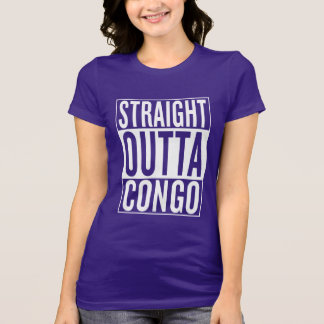 Camiseta outta reto Congo