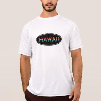 Camiseta Oval doce super do arco-íris de Havaí