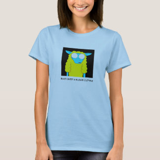 Camiseta Ovelhas negras na roupa loura