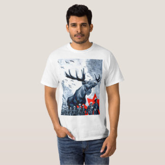 Camiseta Overlord canadense vingativo T dos alces