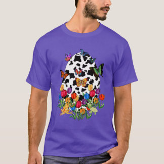 Camiseta Ovo da páscoa da pele da vaca