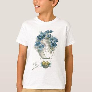 Camiseta Ovo do balão de ar quente do pintinho da páscoa