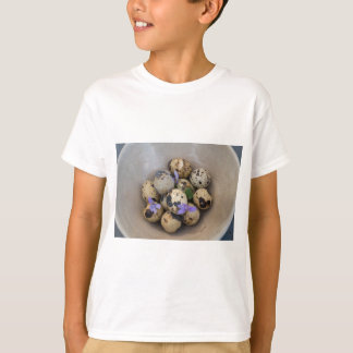 Camiseta Ovos de codorniz & flores 7533