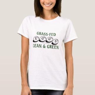 Camiseta Ovos de Grama-Fed: Carne sem gordura & verde