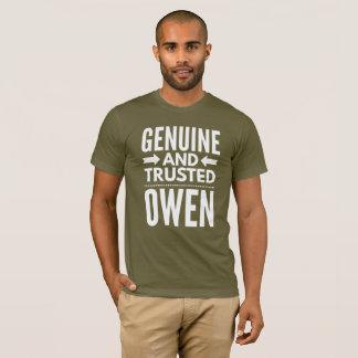 Camiseta Owen genuíno e confiado
