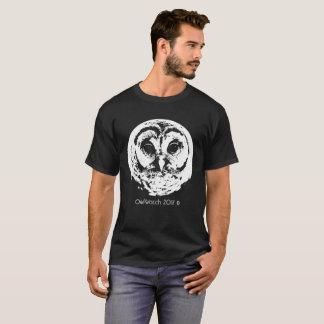 Camiseta OwlWatch - 2017 - cara branca da coruja (B&W)