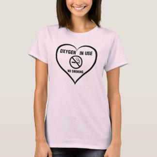 Camiseta Oxigênio no uso, t-shirt não fumadores