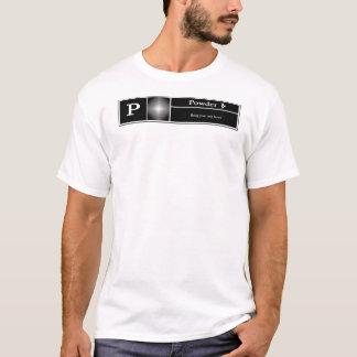 Camiseta P avaliado para o pó - snowboarding
