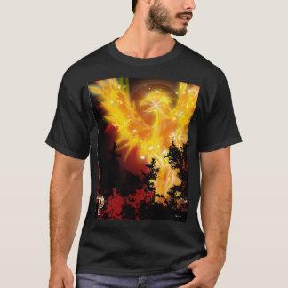 Camiseta P é para o design de Phoenix