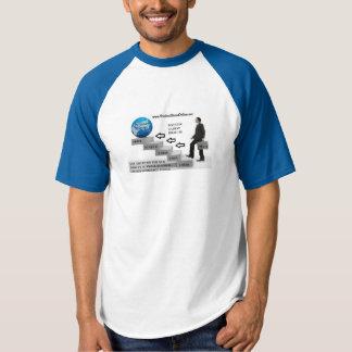 Camiseta P.M.O. - T-shirt do basebol do Raglan dos homens