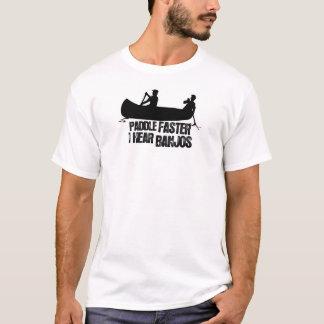 Camiseta Pá mais rapidamente eu ouço banjos T-Shrits