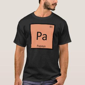 Camiseta Pa - Símbolo da mesa periódica da química da fruta