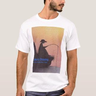 Camiseta Padeiros da pesca do menino @ que cruzam-se no rio