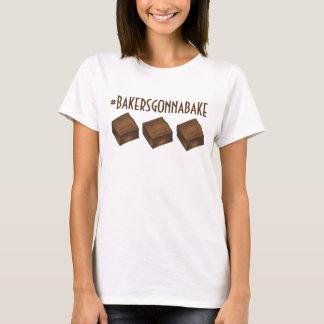 Camiseta Padeiros que vão cozer bares da brownie do