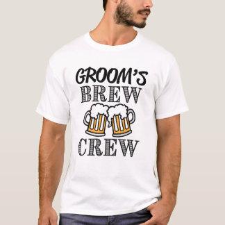 Camiseta Padrinhos de casamento do grupo da fermentação do
