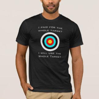 Camiseta Pago por e t-shirt usado do alvo