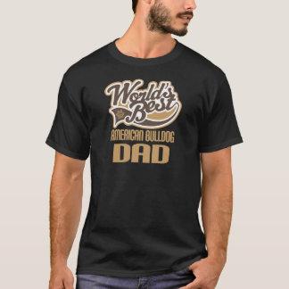Camiseta Pai americano do buldogue (mundos melhores)