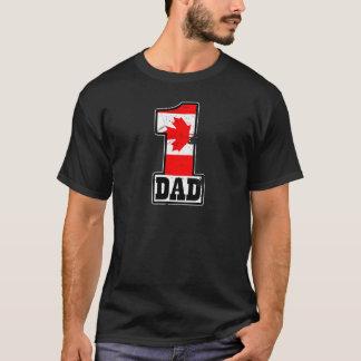 Camiseta Pai canadense do número 1