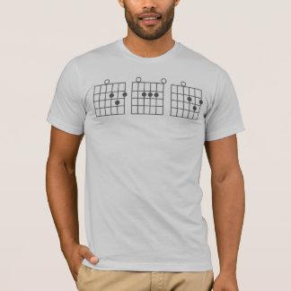 Camiseta PAI da corda da guitarra
