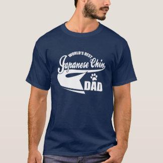 Camiseta Pai de Chin do japonês do mundo o melhor