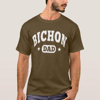 Camiseta Pai do cão de Bichon Frise