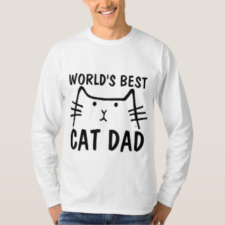 Camiseta PAI do CAT do MUNDO o MELHOR, t-shirt sleeved