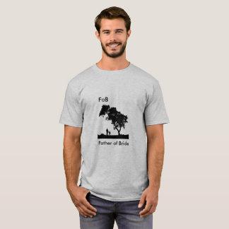 Camiseta Pai do FoB do T da noiva para homens