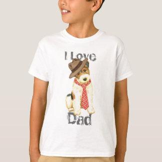 Camiseta Pai do Fox Terrier do fio