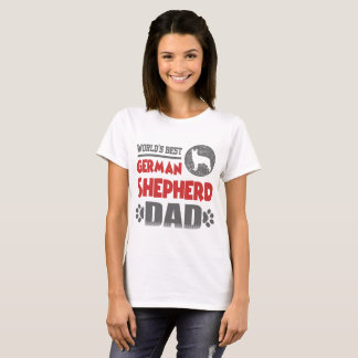 CAMISETA PAI DO GERMAN SHEPHERD DO MUNDO O MELHOR