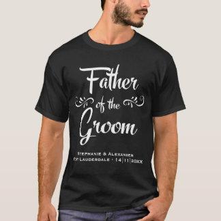 Camiseta Pai do noivo - jantar de ensaio engraçado